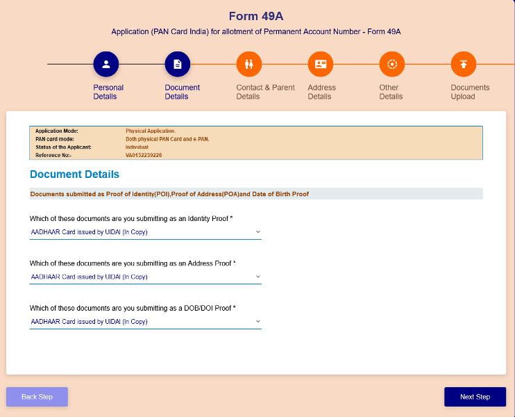 uti se pan card kaise banaye document details (1)