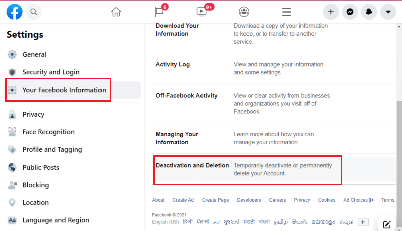 computer se facebook account deactivate kaise kare your facebook information (1)