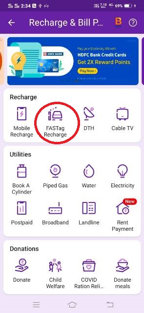 fastag recharge kaise kare phonepe fastag