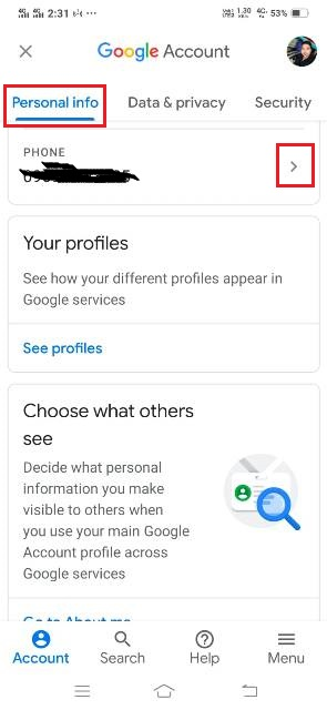 gmail account me mobile number kaise change kare