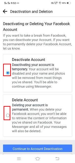 mobile se facebook account deacitvate kaise kare and deactivated (1)