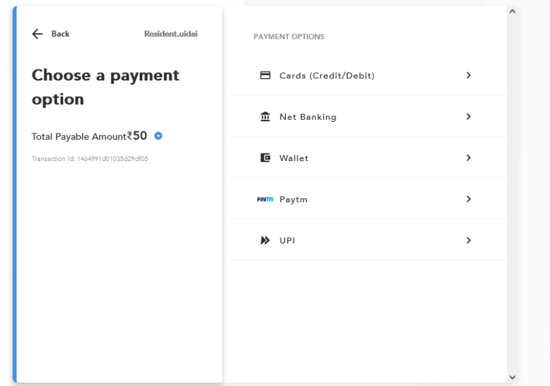 pvc aadhar card online order kaise kare peyment option
